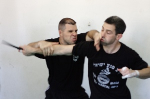 Ranaldo Rossi with Dave G. executing straight stab defense